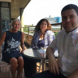 Dr Fernando Russo Abegao, Dr Sue Haile and Sharon Joyce
