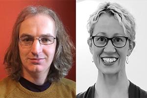 Headshots of Dr Kevin Crosby and Samantha Ryan