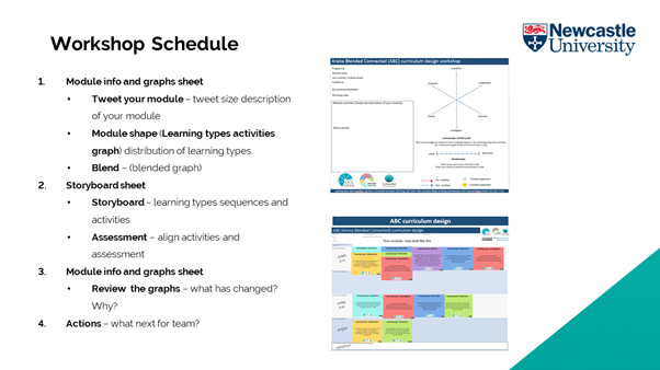 Image of the ABC workshop Schedule