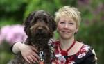Catherine Douglas and a dog